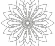 Coloring pages Flower Mandala in black