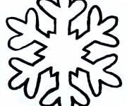 Coloring pages Simple Snowflake