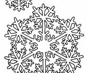 Coloring pages Snowflake Mandala in winter