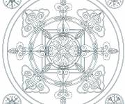 Coloring pages Snowflake mandala to color