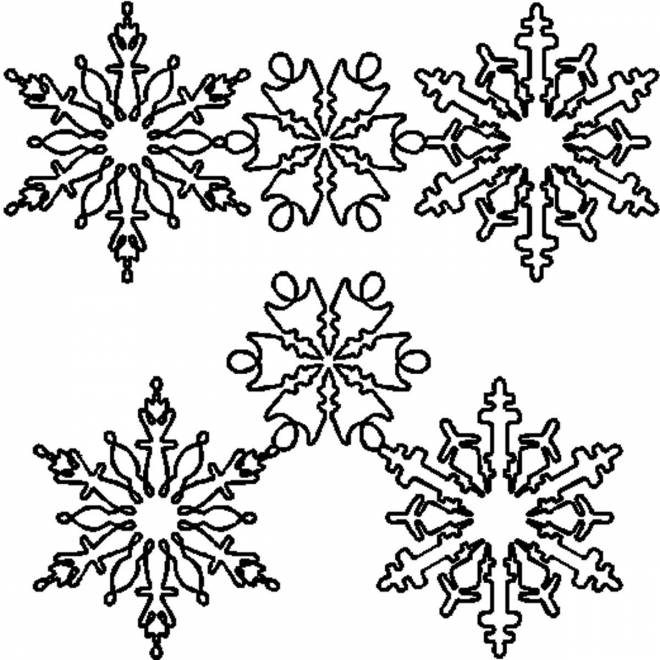 Free coloring and drawings Adult Snowflake Coloring page