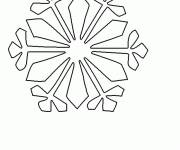 Coloring pages Beautiful Snowflake