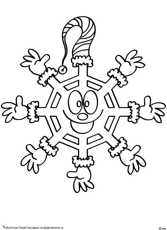 Free coloring and drawings extraordinary Snowflake  Coloring page