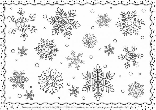 Free coloring and drawings Snowflake  Coloring page