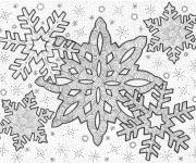 Coloring pages Snowflake adult