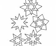 Coloring pages Snowflake adult for children