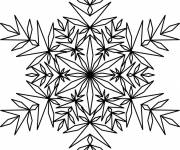 Coloring pages Snowflake adult to color