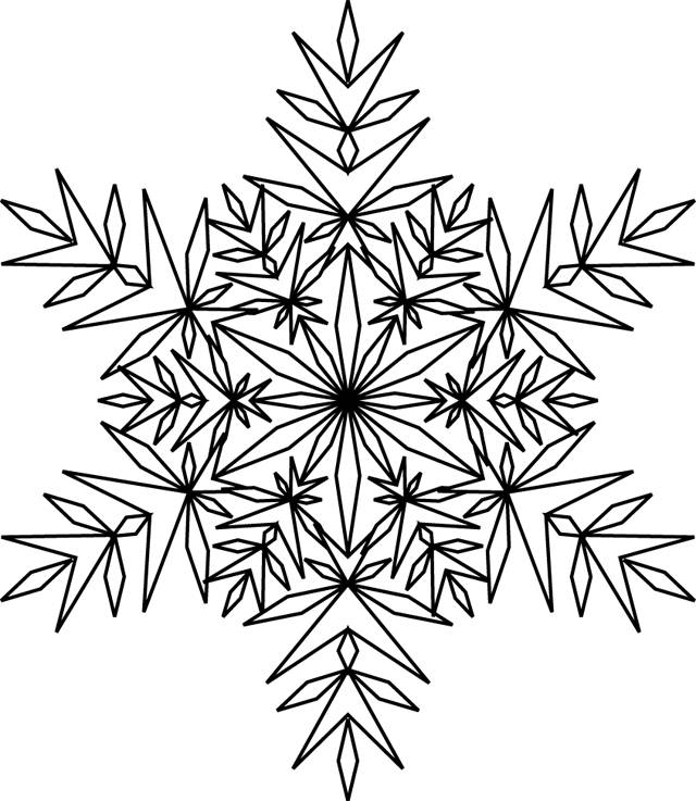 Free coloring and drawings Snowflake adult to color Coloring page