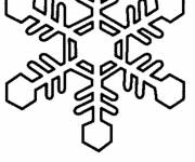Coloring pages Snowflake christmas easy