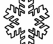 Coloring pages Snowflake drawing in white and black