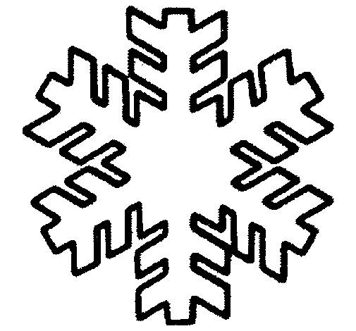 Free coloring and drawings Snowflake drawing in white and black Coloring page