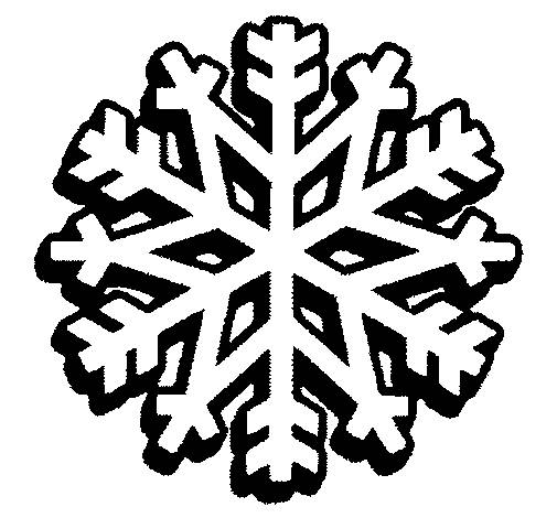 Free coloring and drawings Snowflake for boys and girls Coloring page