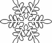 Coloring pages Snowflake for house decoration