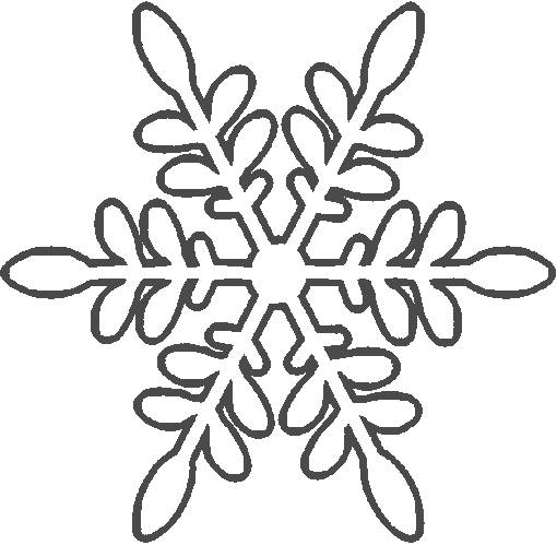 Free coloring and drawings Snowflake for house decoration Coloring page