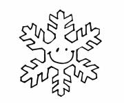 Coloring pages Snowflake for the little ones