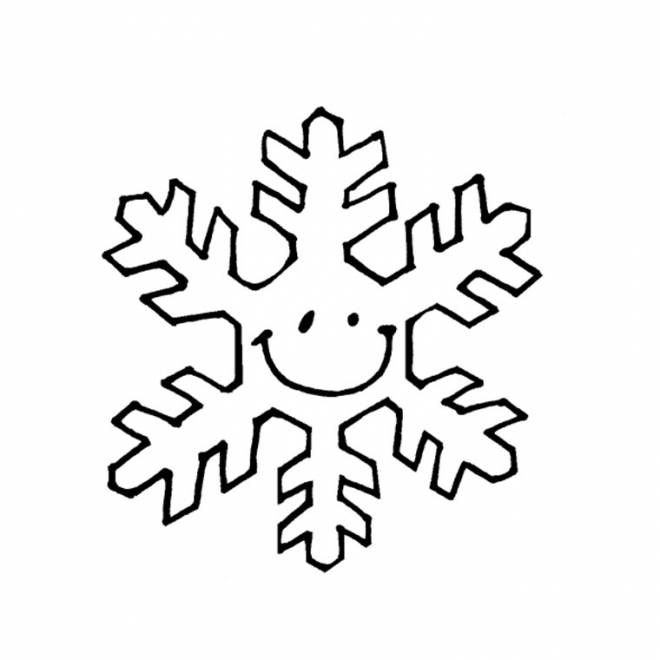 Free coloring and drawings Snowflake for the little ones Coloring page
