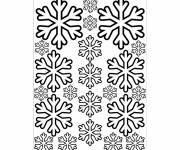 Free coloring and drawings Snowflake in black and white Coloring page