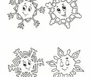 Coloring pages Snowflake in white
