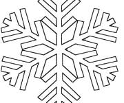Coloring pages Snowflake online to color
