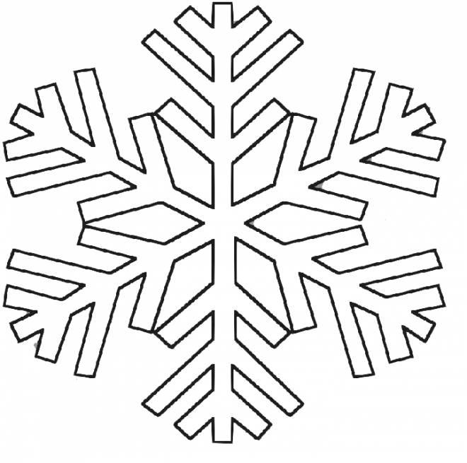 Free coloring and drawings Snowflake online to color Coloring page