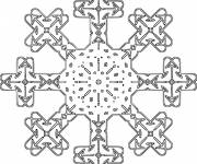 Coloring pages Snowflake to color