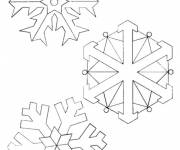 Coloring pages Snowflake to decorate easy