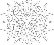 Coloring pages Snowflake to order