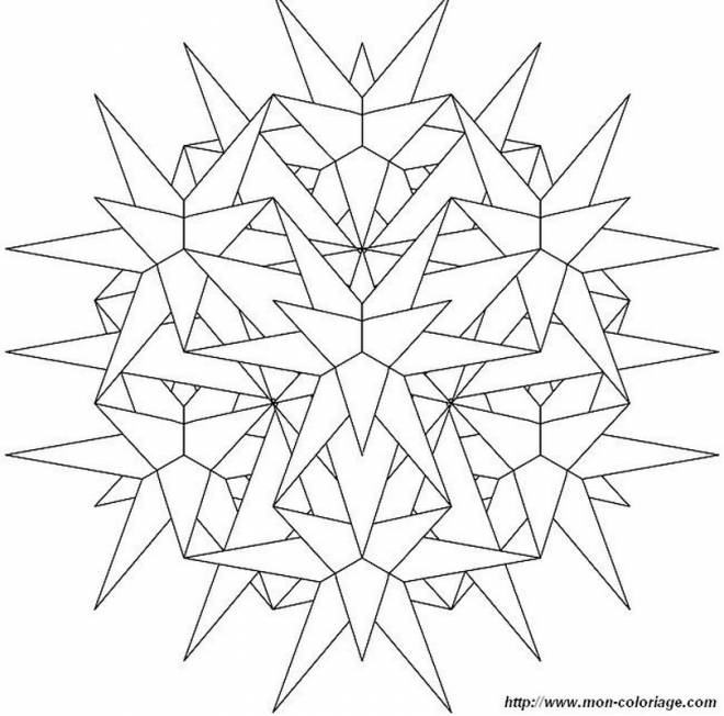 Free coloring and drawings Snowflake to order Coloring page