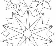 Coloring pages Snowflake to save