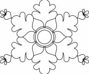 Coloring pages White Snowflake online