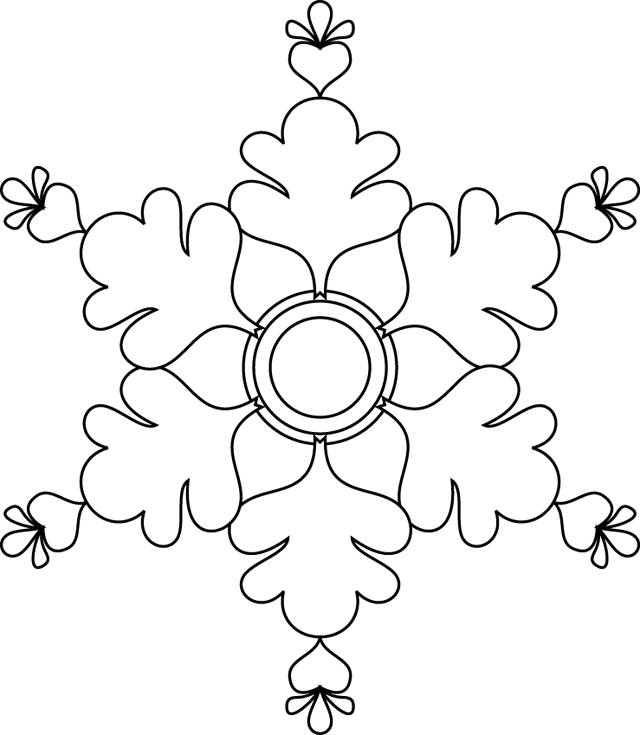 Free coloring and drawings White Snowflake online Coloring page