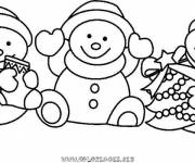 Free coloring and drawings Christmas Snowman Coloring page