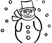 Free coloring and drawings Cutting Snowman Coloring page