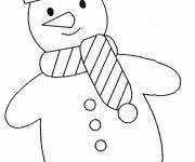 Free coloring and drawings Simple Snowman Coloring page
