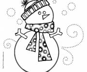Free coloring and drawings Snowman to download Coloring page