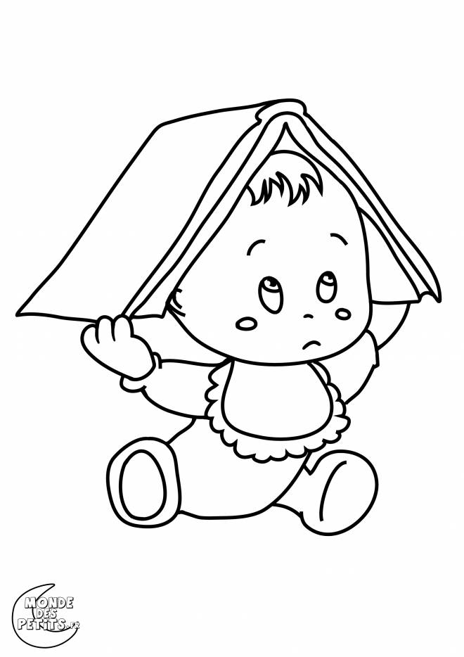 Free coloring and drawings A Baby Too Cute Coloring page