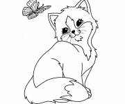 Free coloring and drawings Kitten Too Cute Coloring page
