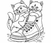 Free coloring and drawings Too cute kittens Coloring page