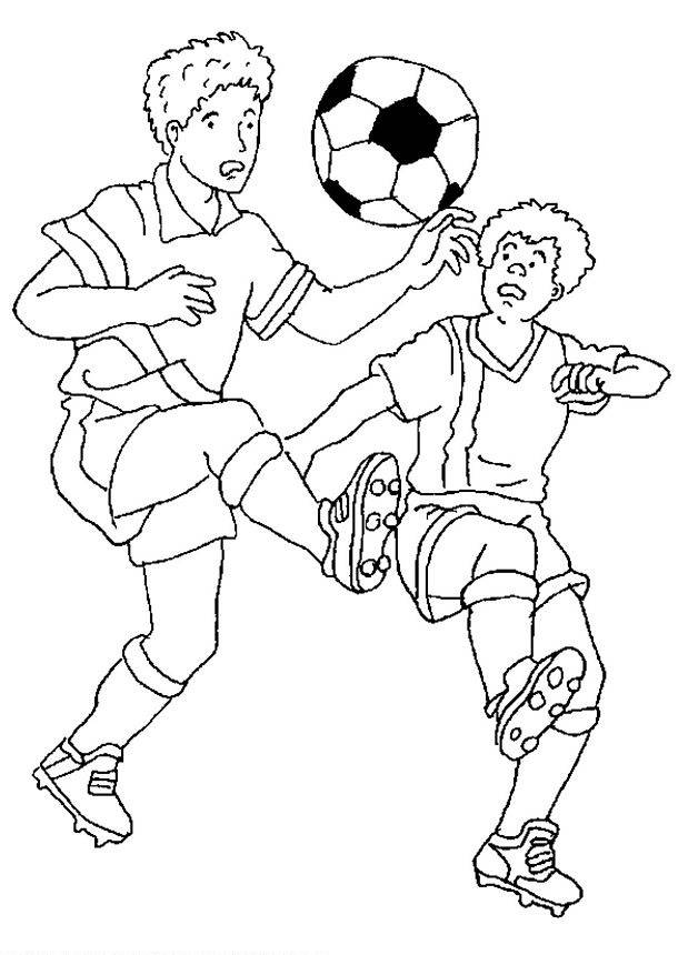Free coloring and drawings A football match Coloring page