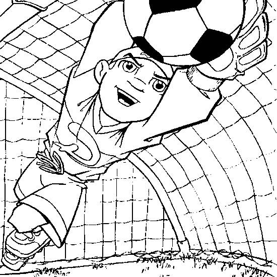 Free coloring and drawings A goalie Coloring page