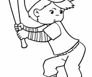 Coloring pages Baseball player