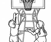 Coloring pages Basketballers in action