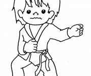 Coloring pages Karate Sports