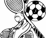 Coloring pages Sports equipments