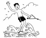 Coloring pages Sports maritime