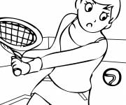 Coloring pages Tennis sport