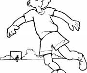 Coloring pages Young funny soccer player