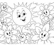 Coloring pages Kindergarten Summer small section