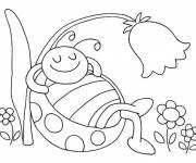 Coloring pages Ladybug during Summer