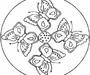 Coloring pages Mandala Butterflies